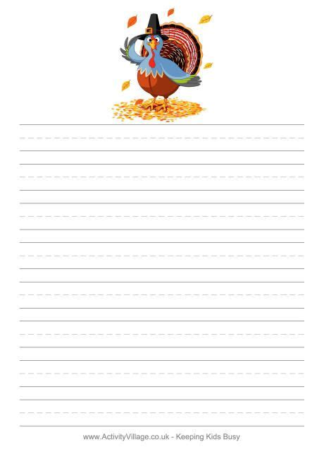 Thanksgiving Writing Paper Template by We Ve Got Thanksgiving Stationery And Writing Paper Which