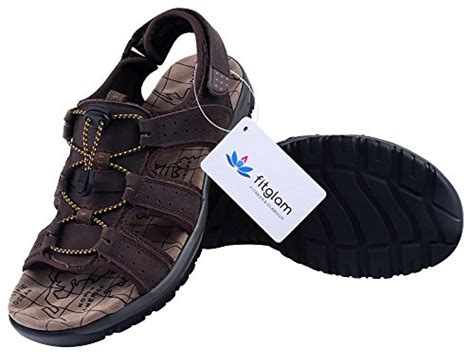Stok Terbatas Elastic Adjustable With Simple Anti Slide 1 fitglam mens leather sandals summer outdoor shoes
