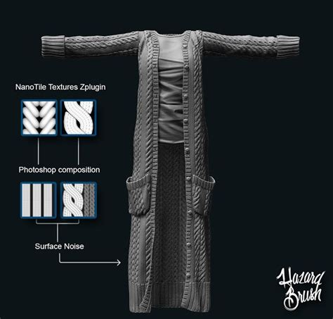 Modelling Cardigan 126 best images about zbrush cloth modeling on