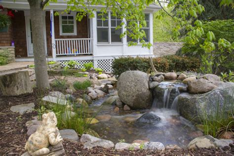 yard features front yard water features boost your curb appeal c e pontz sons landscape contractors