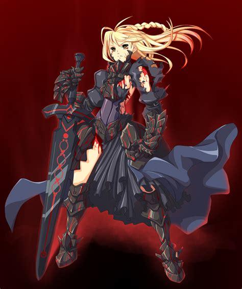 Black Sabre anime galleries dot net fate stay black saber 5