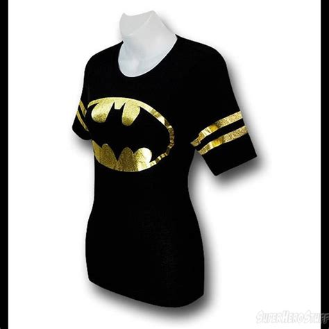 batman symbol foil s athletic t shirt