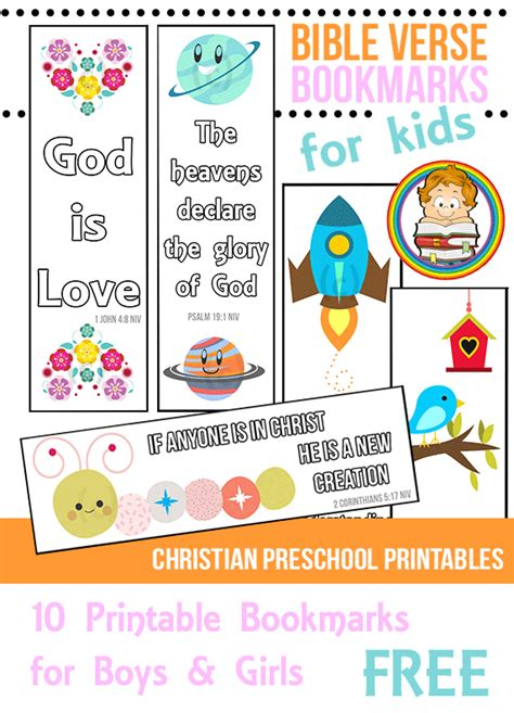 printable preschool bookmarks bible verse bookmarks for kids bookmarks verses and bible