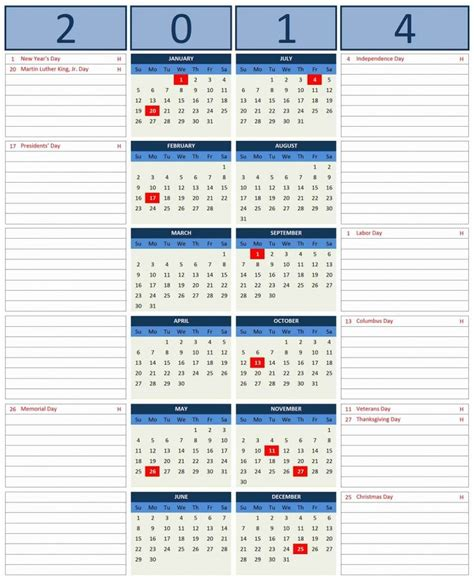 free excel calendar template 2014 free excel 2014 calendar template excel templates