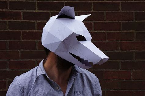 How To Make A Wolf Mask Out Of Paper - steve wintercroft diy skull wolf and pumpkin