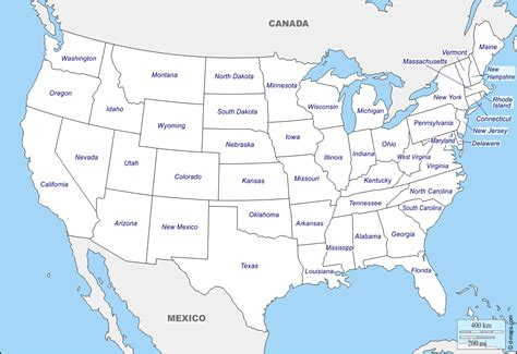 united states usa  map  blank map  outline
