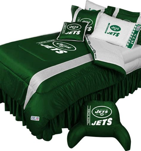 nfl new york jets football team queen full bed comforter