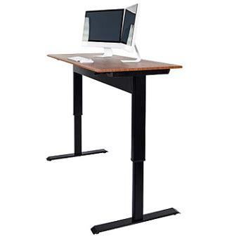 the wide height adjustable standing desk luxor pneumatic adjustable height standing desk spn48f