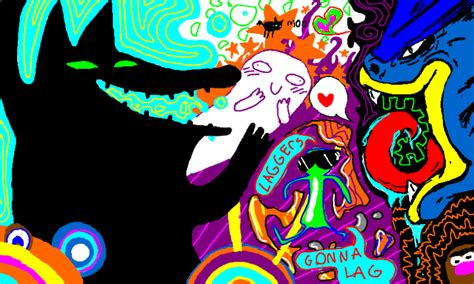 flow draw flockdraw rainbow mess by exploding zombies on deviantart