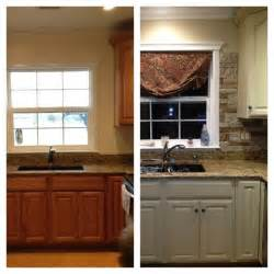 my kitchen update annie sloan chalk paint on cabinets and airstone backsplash before after