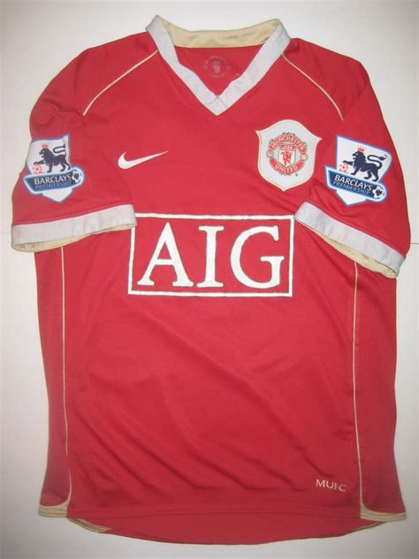 2006 2007 Manchester United Home Original Jersey Size L Ronaldo 7 manchester united cristiano ronaldo nike kit jersey 2006 real madrid portugal ebay