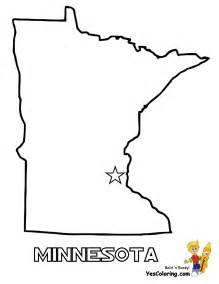 Minnesota State Map Coloring Pages sketch template