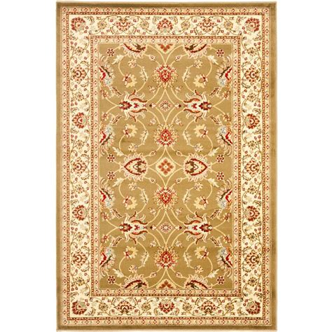 4 ft area rugs safavieh lyndhurst green ivory 4 ft x 6 ft area rug lnh553 5212 4 the home depot