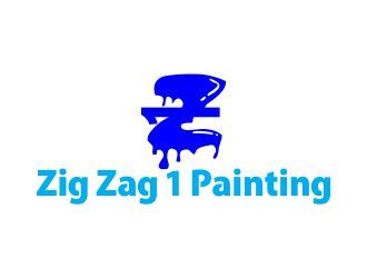 logo design contest zigzag zig zag 1 painting logo design 48hourslogo com