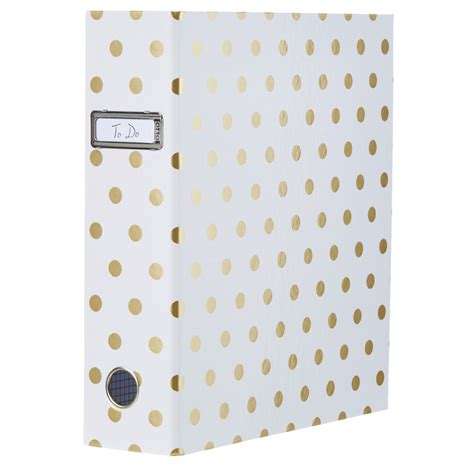 Wedding Lever Arch by Otto Lever Arch Binder With Printed Spine Gold
