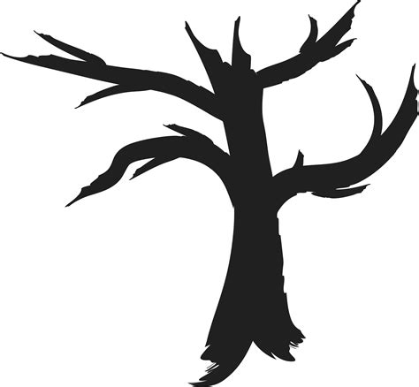 clipart dead tree silhouette clipartbarn