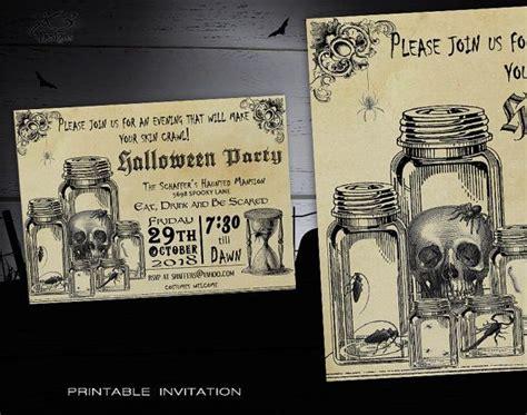 free printable vintage halloween invitations halloween party invitation printable spooky halloween