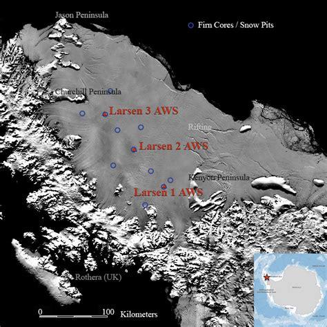 Larsen Shelf by Larsen C Shelf In A Warming Climate Station Locations