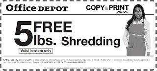 office depot coupons for shredding free is my life freeismylife april 2013 calendar don t