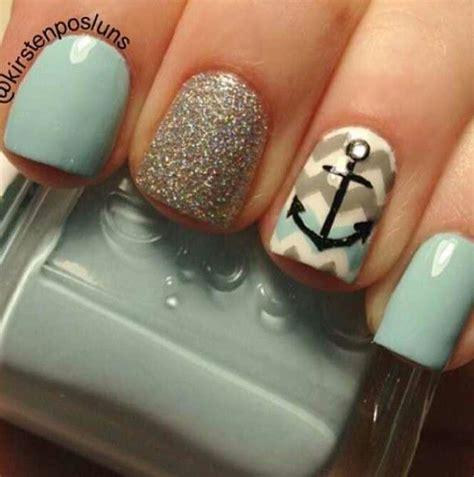 easy nail art chevron anchor chevron nails nail art nail art pinterest