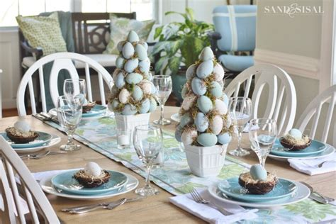 Decorating With Grapevine Easter Table Setting