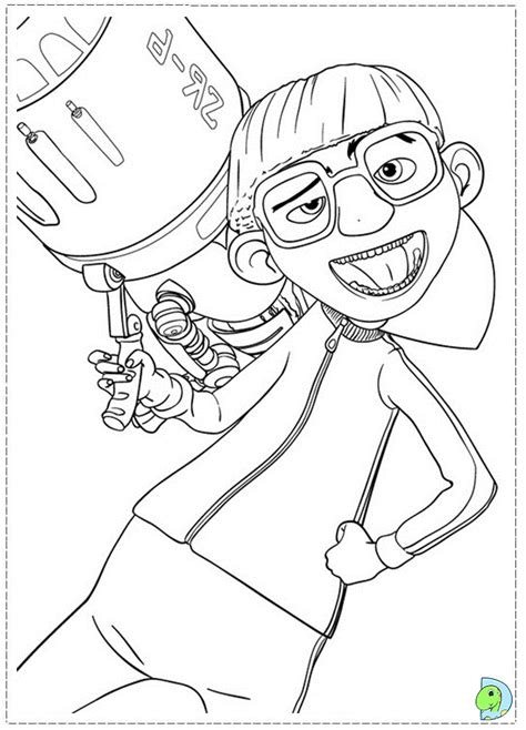 i vector dispicable colouring pages