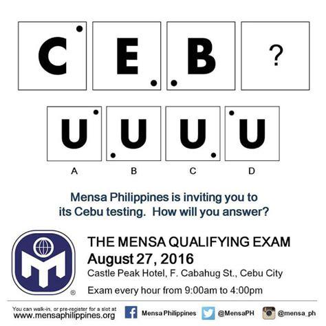 test qi mensa iq test mensa philippines