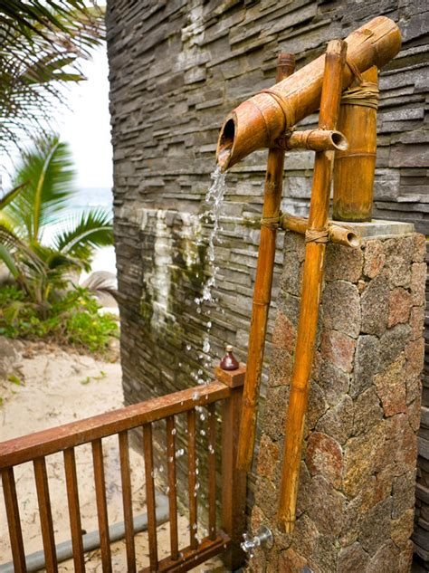 outdoor bamboo shower design ideas outdoor showers and tubs outdoor spaces