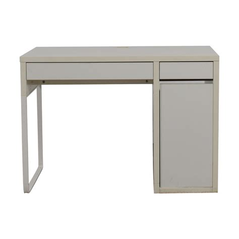 desk with printer storage 60 off two white desk with high rover and
