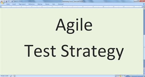 agile test strategy template exle agile test strategy agile test plan