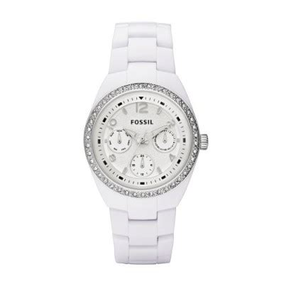 Fossil Ce 1042 Ceramic fossil multi eye white analogue ceramic