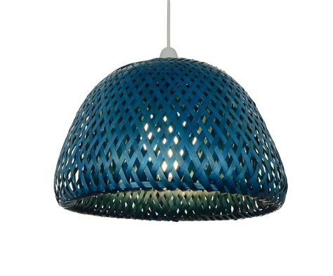 Large Dome Nets Blue 32cm large dome rattan ceiling light pendant shade green