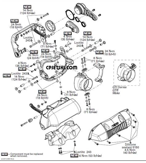 sea doo jet ski parts diagram intelligent brake and