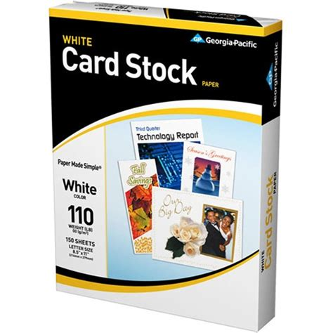 cardstock for card pacific cardstock 8 5 x 11 110 lb 150 sheets
