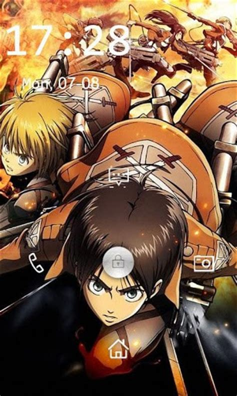 theme line android attack on titan download attack on titan lock screen for android appszoom
