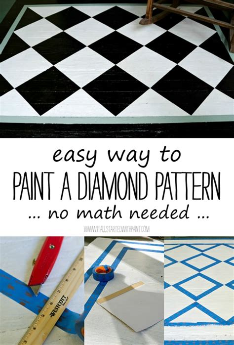 how to paint a diamond pattern on your wall maison d or how to paint a diamond pattern porch rug it all started
