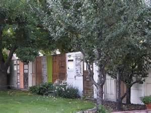 Repurposed Doors In The Garden Old Doors Repurposed Fences Upcycle Art