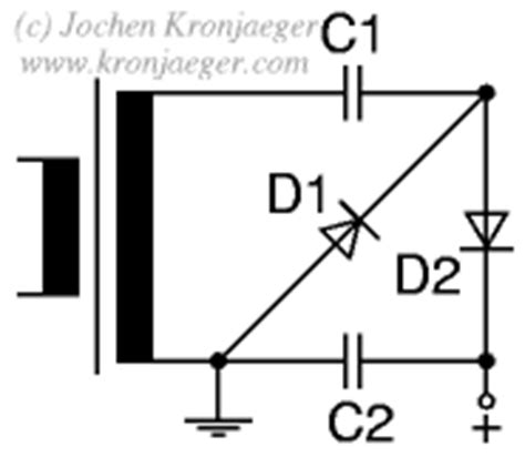 voltage multiplier capacitor polarity jochen s high voltage page basic multiplier circuits