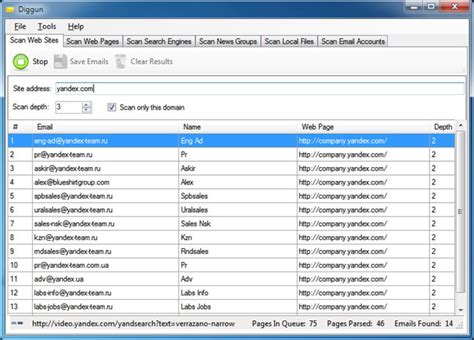 Search Emails For Free Diggun Site Email Extractor