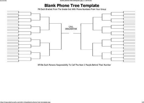 free phone tree template printable phone tree template free premium