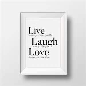 Live Laugh Love Art Live Laugh Love Wall Art Live Laugh Love Decal Printable