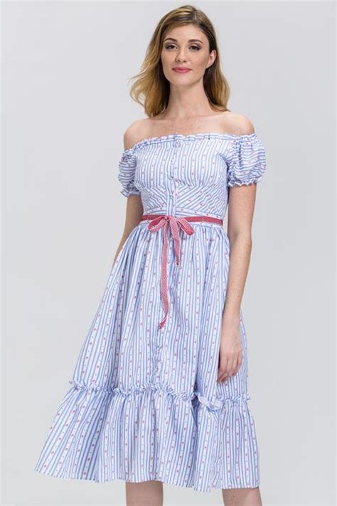 Dress Mini Sabrina Import Blue Offshoulder Retro Size S 306439 shop dresses and skirts at ownthelooks