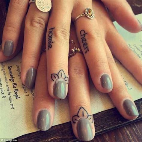 flash tattoo nails people are going gaga for cuticle tattoos like rihanna s