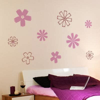 dali 16 art stickers 0486410749 fun flowers set of 16 wall decals stickers graphics