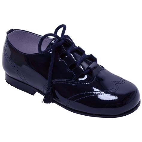 navy patent shoes boys navy patent brogue leather shoes with tassels
