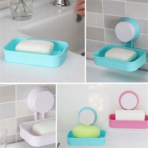 organboo 1pc suction cup storage rack wall plastic kitchen sinks 1pc plastic bathroom shower strong suction cup soap dish