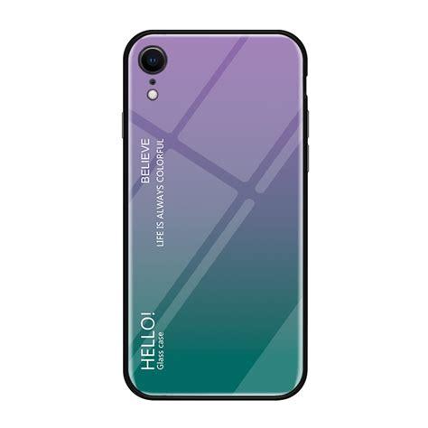 gradient color glass case  iphone xr purple alexnldcom