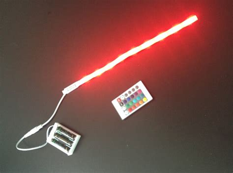 5050 rgb color battery powered led light