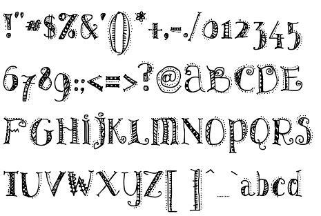 pattern dots font uzimweb