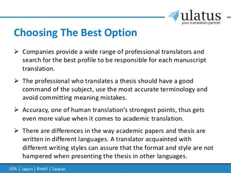 thesis statement translation thesis translation services